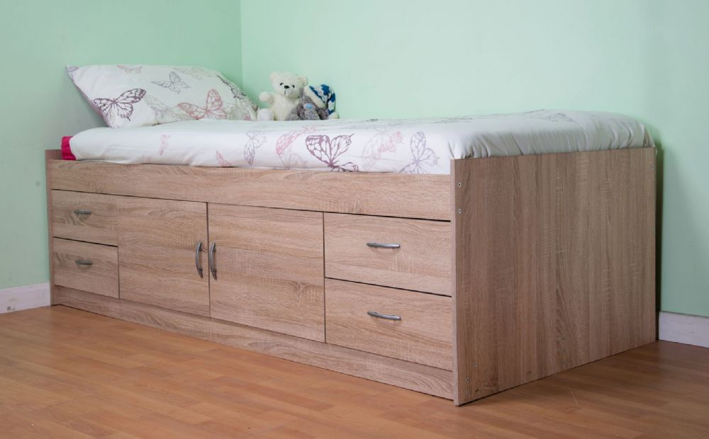 Gamma Cabin Midi Bed Oak
